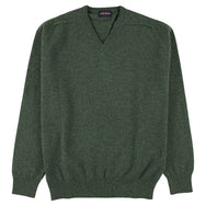 "Lambswool V neck ""Fern"""