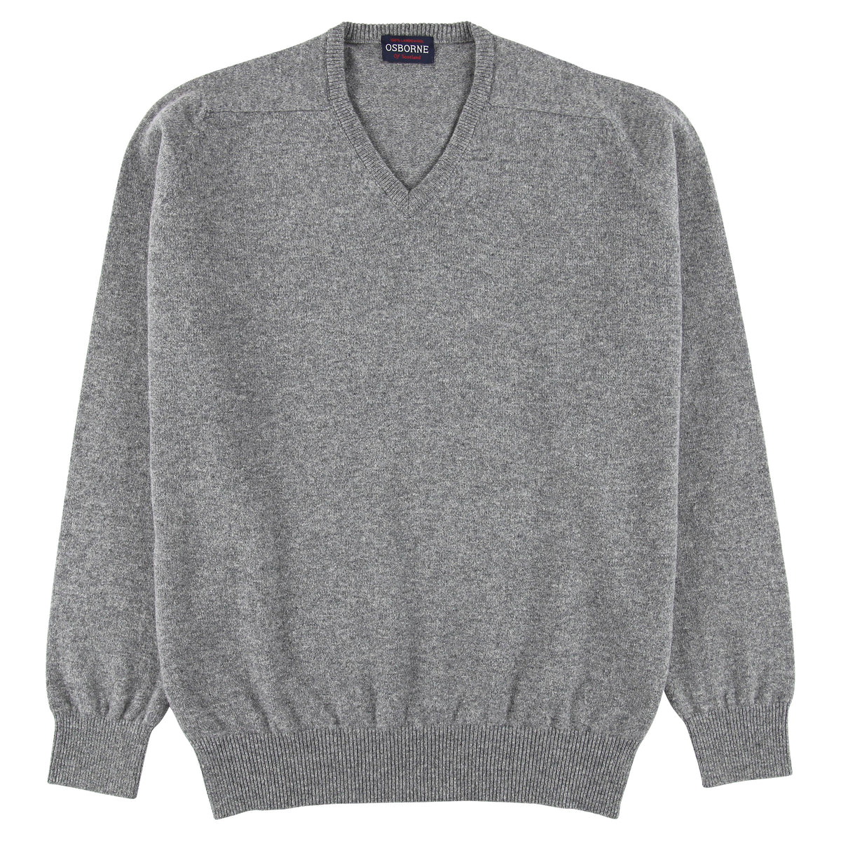 "Lambswool V neck ""Grey Mix"""