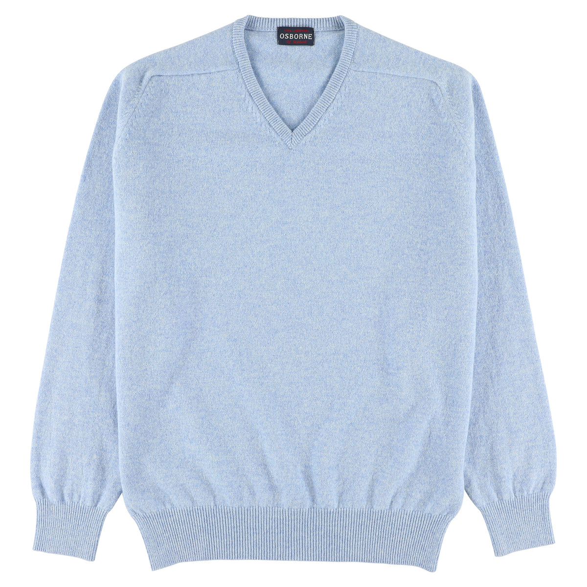 "Lambswool V neck ""Iceberg"""
