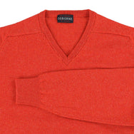 "Lambswool V neck ""Inferno"""