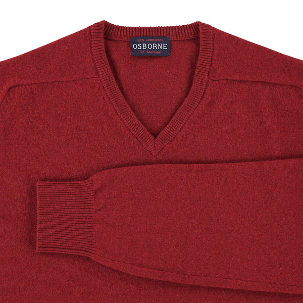 "Lambswool V neck ""Magma"""