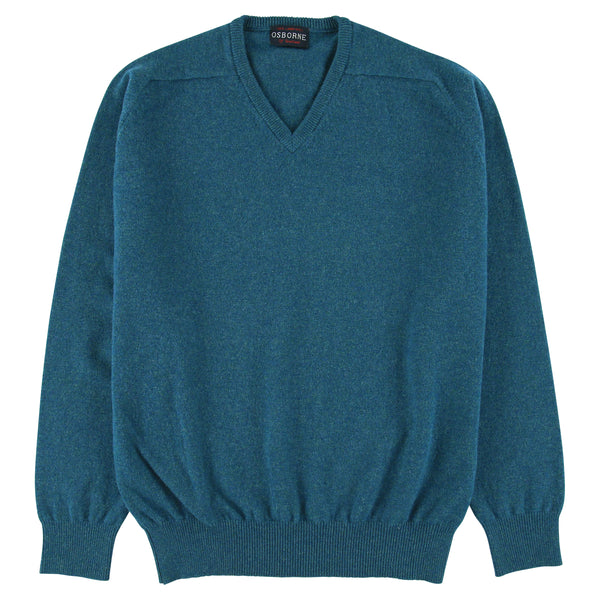 "Lambswool V neck ""Mallard"""