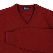 "Lambswool V neck ""Paprika"""