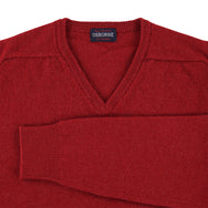 "Lambswool V neck ""Poppy Melange"""