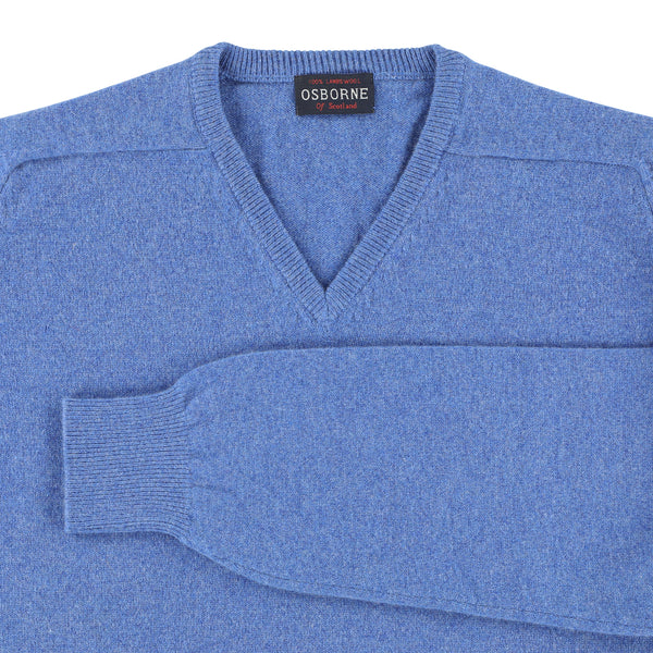 "Lambswool V neck ""River"""