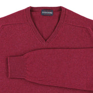 "Lambswool V neck ""Rosehip"""