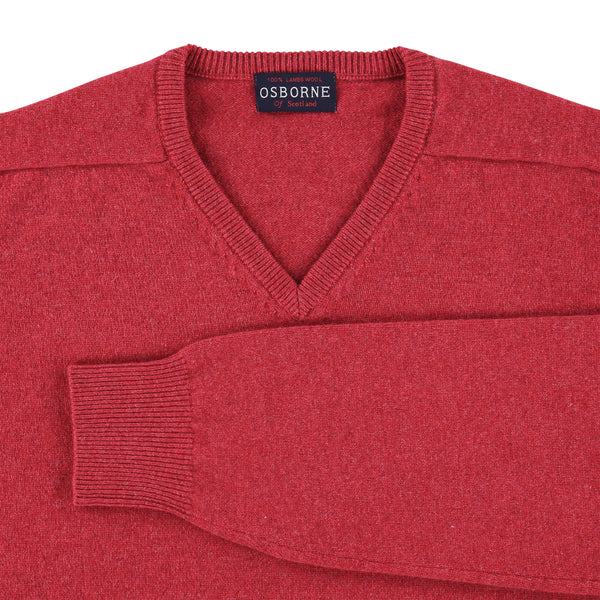 "Lambswool V neck ""Rouge"""