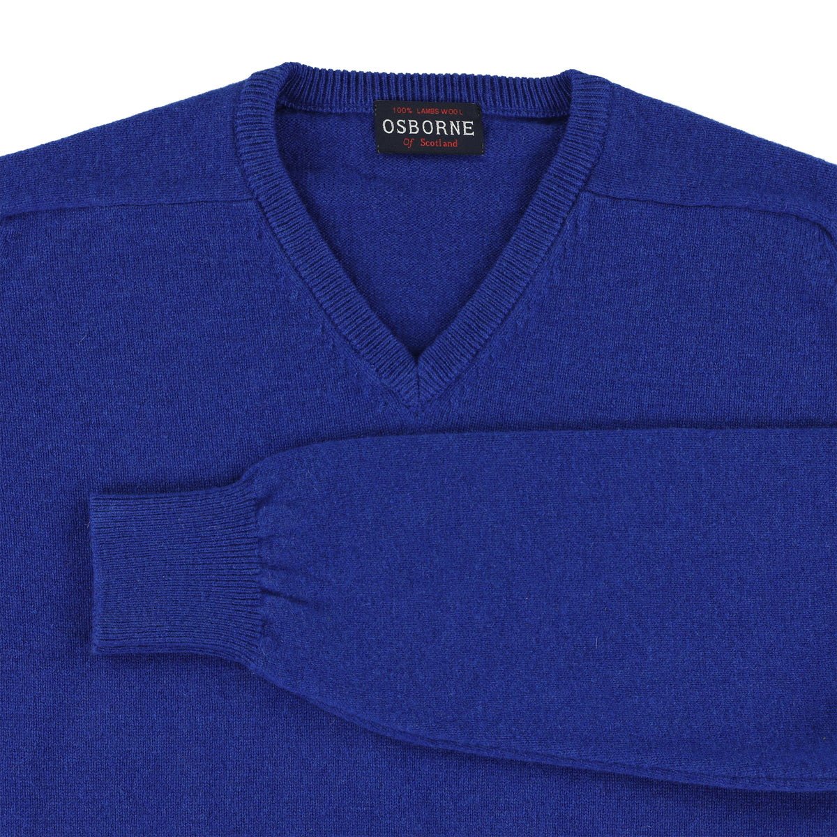 "Lambswool V neck ""Sapphire"""