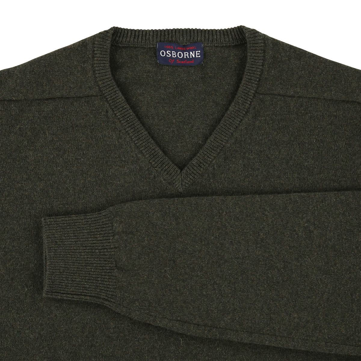 "Lambswool V neck ""Seaweed"""