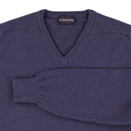"Lambswool V neck ""Thunderstorm"""
