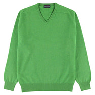 "Lambswool V neck ""Topiary"""