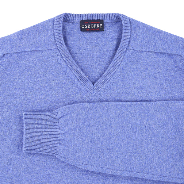 "Lambswool V neck ""Waterfall"""