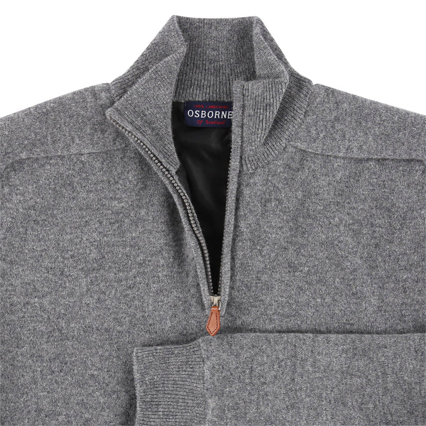 "Windstopper zip neck ""Grey Mix"""