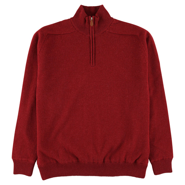 "Windstopper zip neck ""Poppy Melange"""