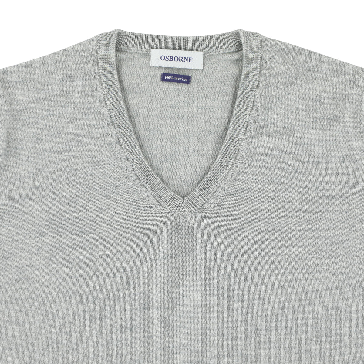 "Women merino V-neck ""LT Grey"""