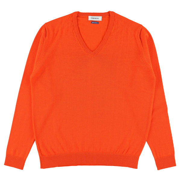 "Women merino V-neck ""Orange"""