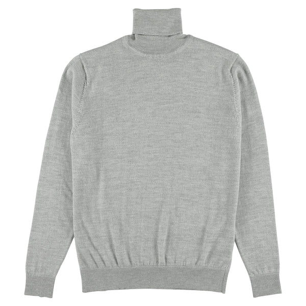 "Merino roll neck ""Light Grey"""