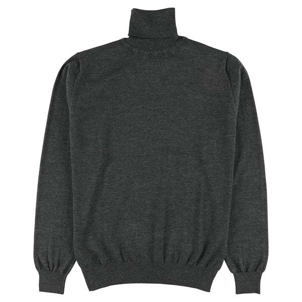 "Merino roll neck ""Anthracite"""