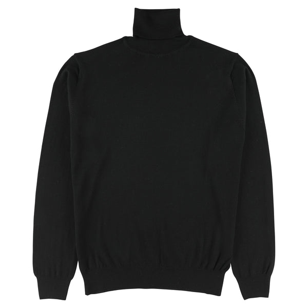 "Merino roll neck ""Black"""