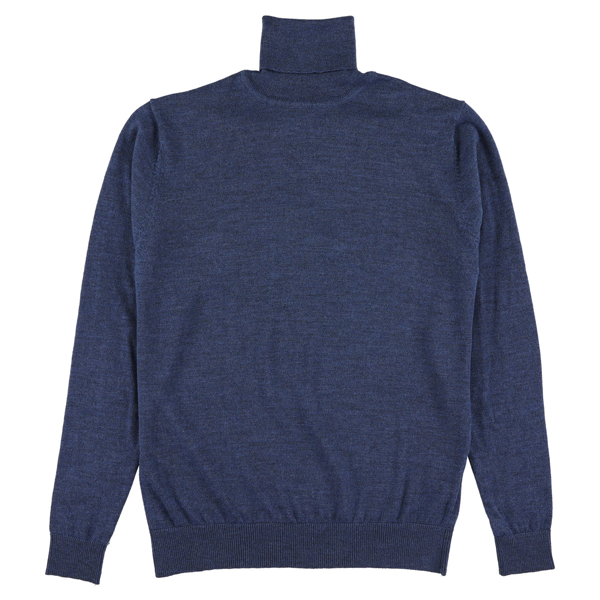 "Merino roll neck ""Mid blue"""