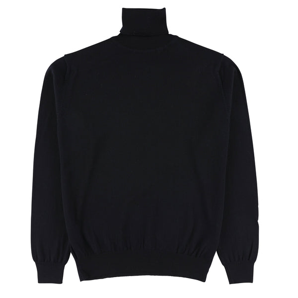 "Merino roll neck ""Navy"""