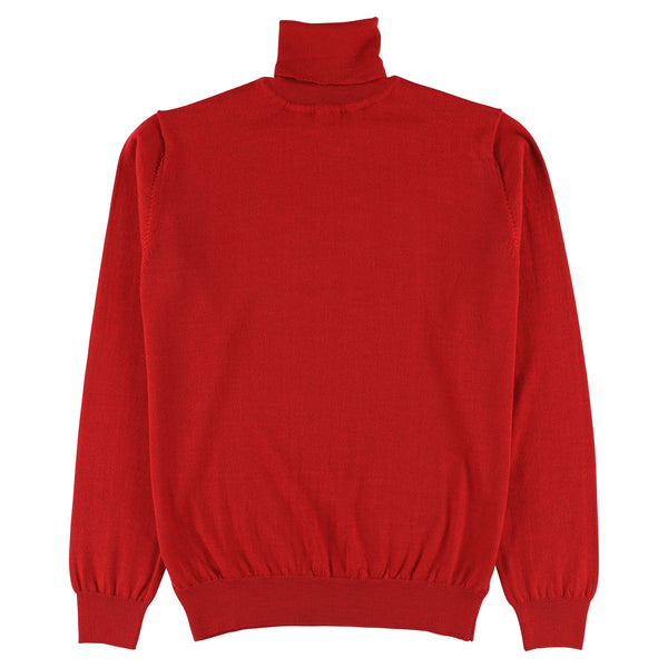 "Merino roll neck ""Red"""