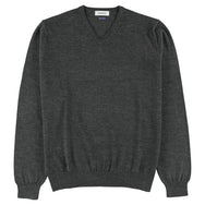 "Merino V-neck ""Anthracite"""