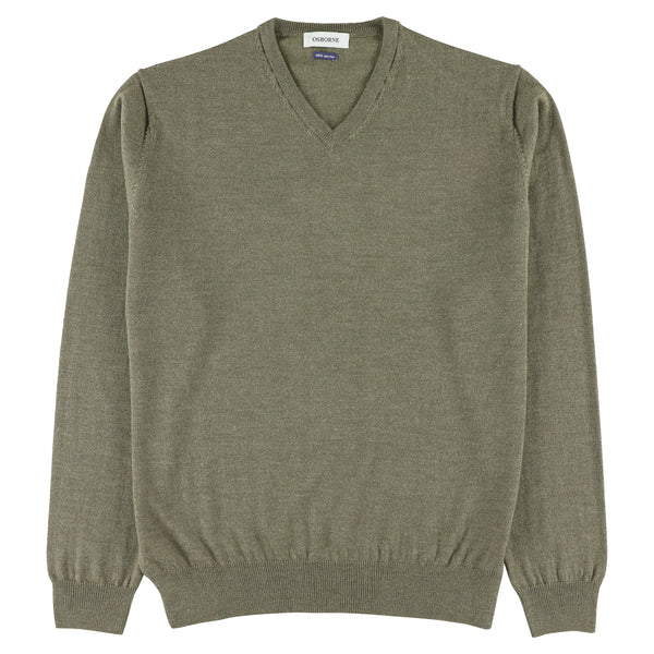 "Merino V-neck ""Atmosphere"""
