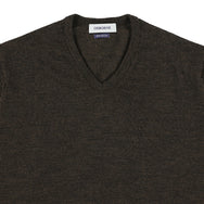 "Merino V-neck ""Brown"""