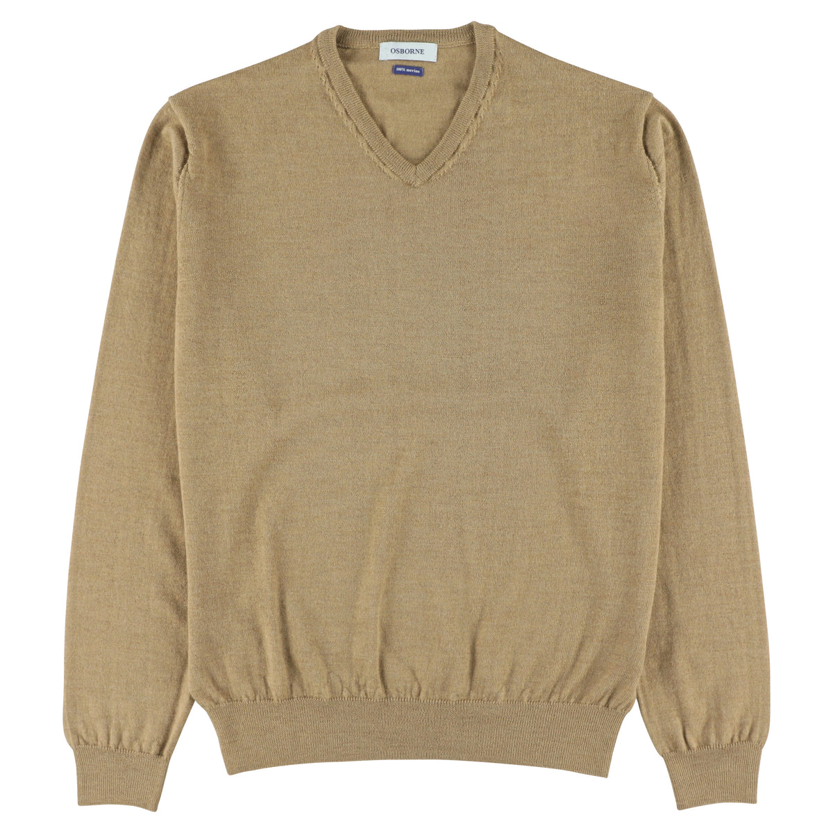 "Merino V-neck ""Camel New"""