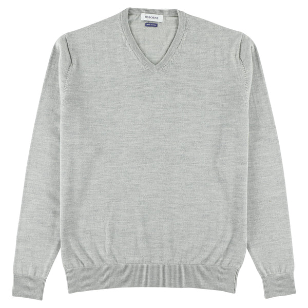 "Merino V-neck ""Ligh Grey"""