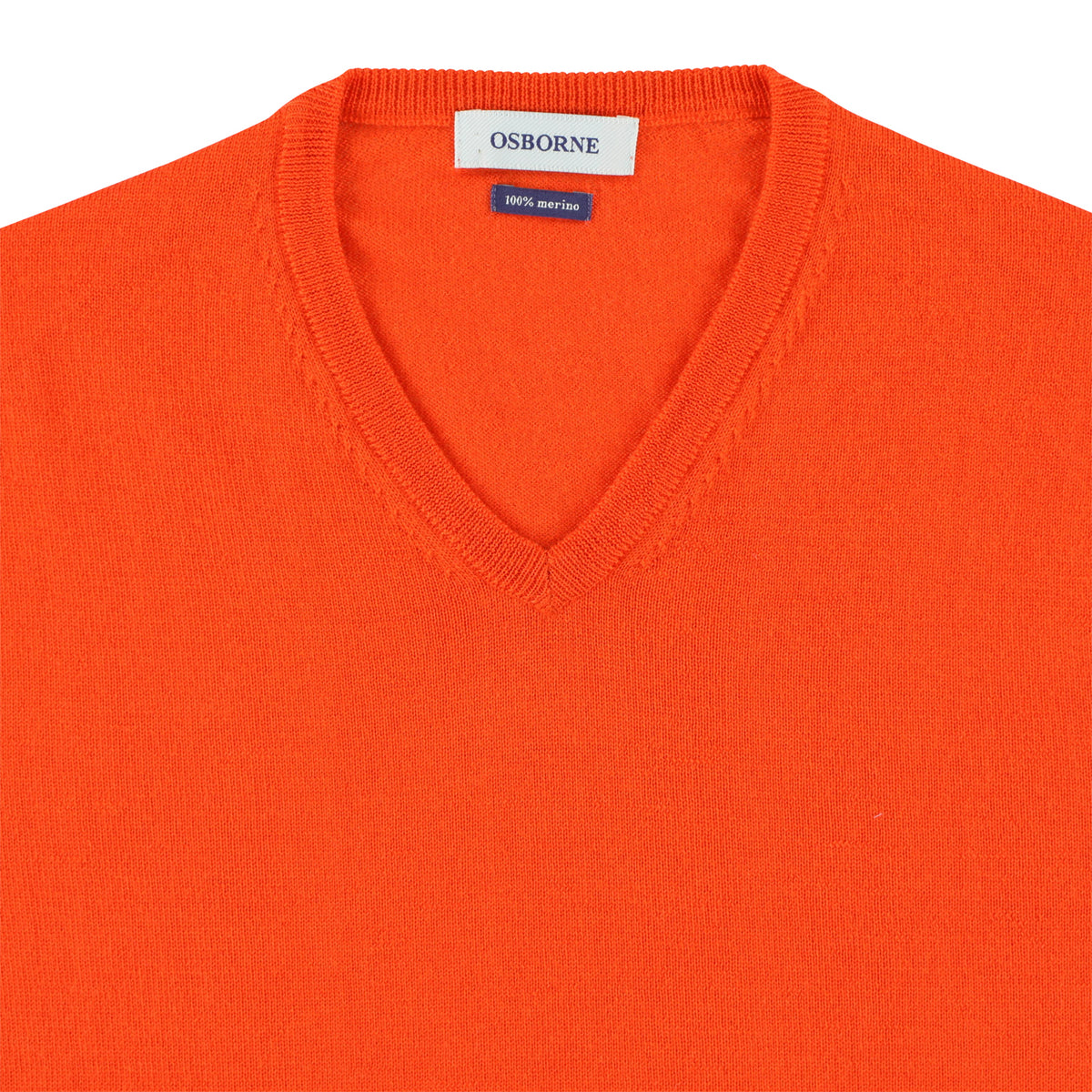 "Merino V-neck ""Orange"""