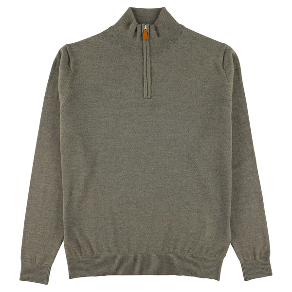 "Merino zip neck ""Atmosphere"""