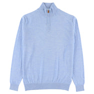 "Merino zip neck ""Azur"""