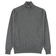 "Merino zip neck ""Dark Grey"""