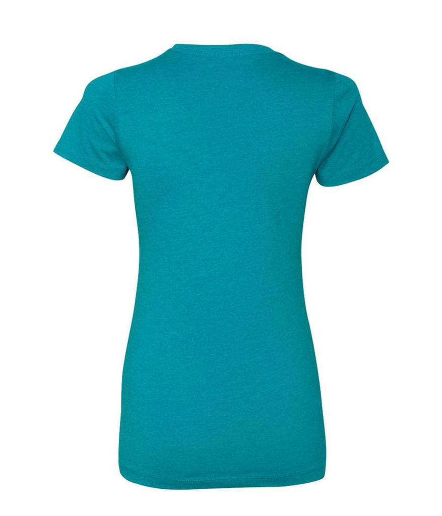 Women's Next Level 9R 9Round Circle Logo Tee (Teal)