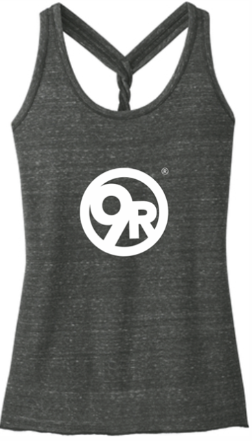 Women's District Made Twist Tank - Black/Grey