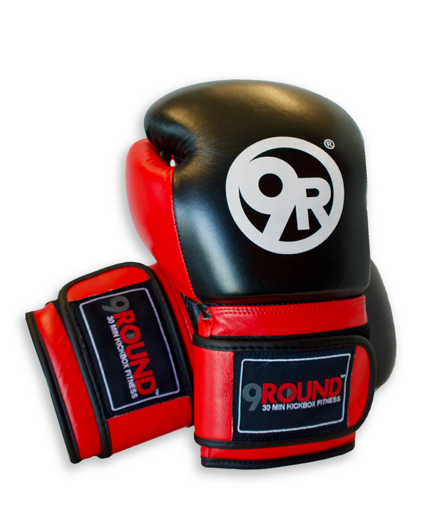 Leather Pro 9Round Red/Black Gloves