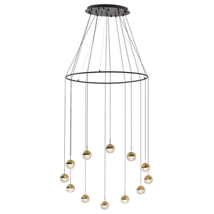 Dora 12 Light Pendant -  Brass