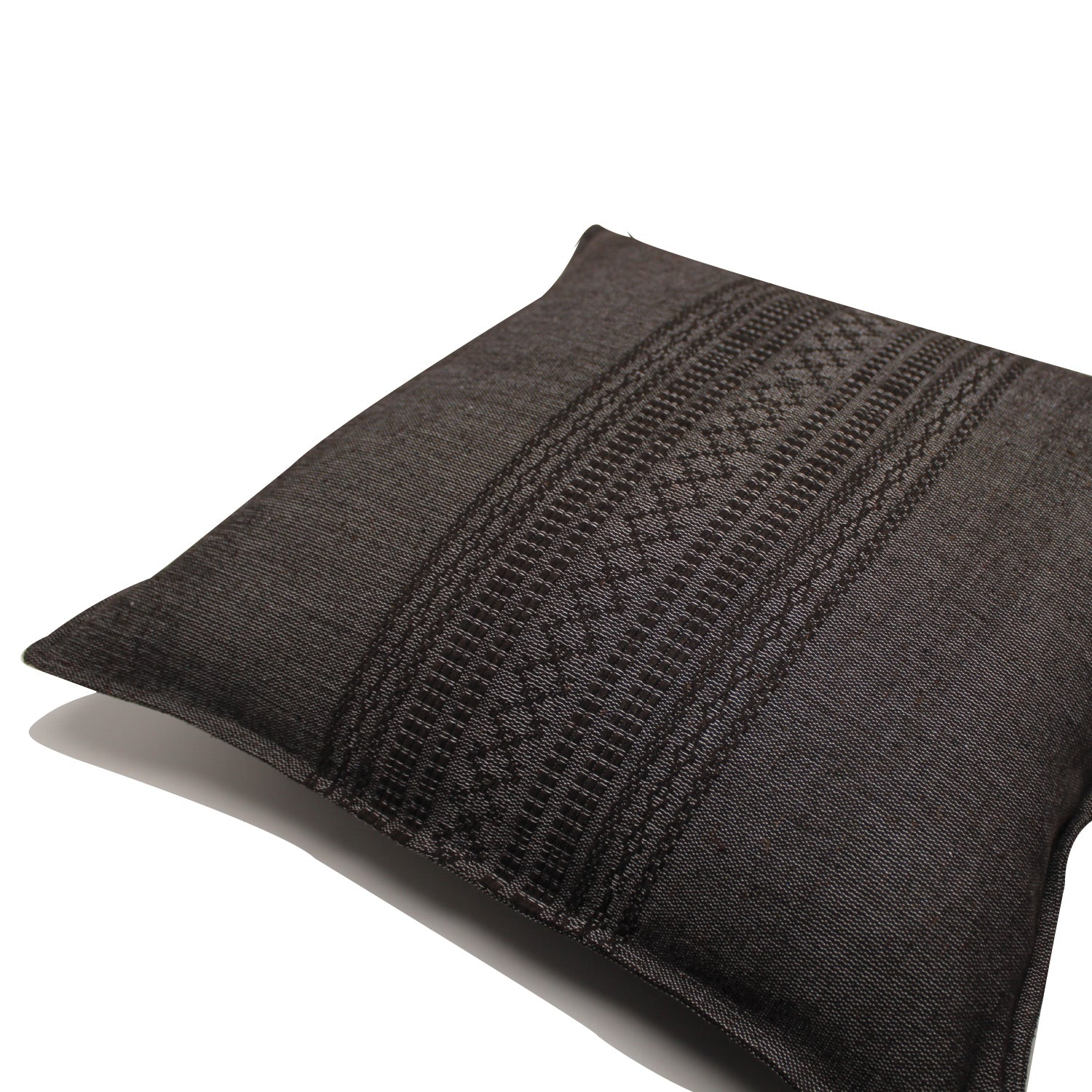 Alban Handwoven Pillow - Charcoal