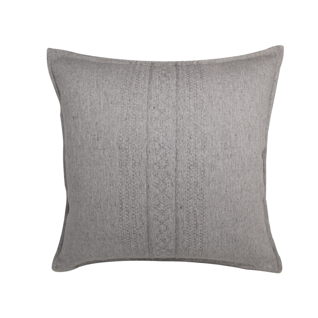 Alban Handwoven Pillow - Grey