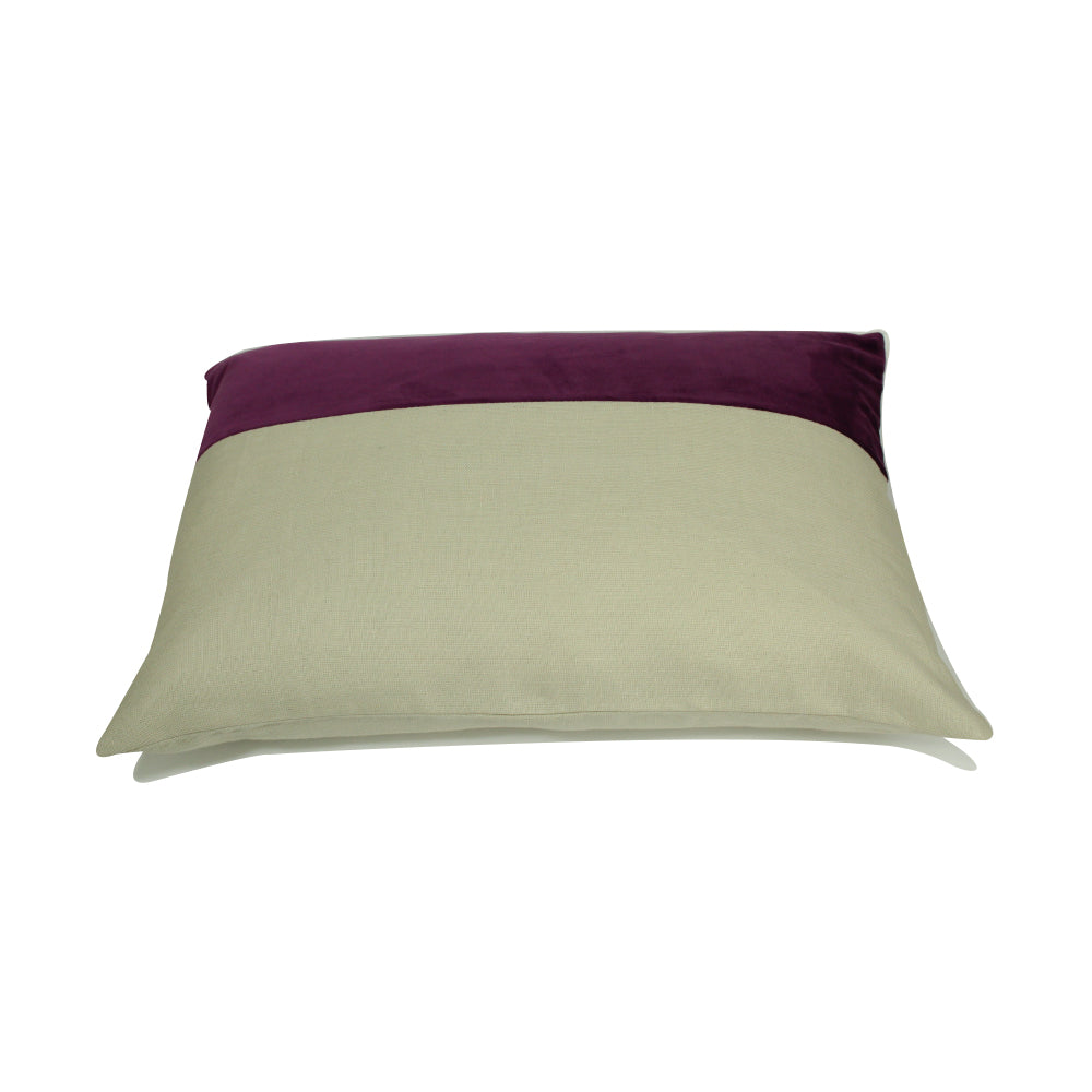 "Alma Pillow - Purple / Cream - 20"" x 14"""