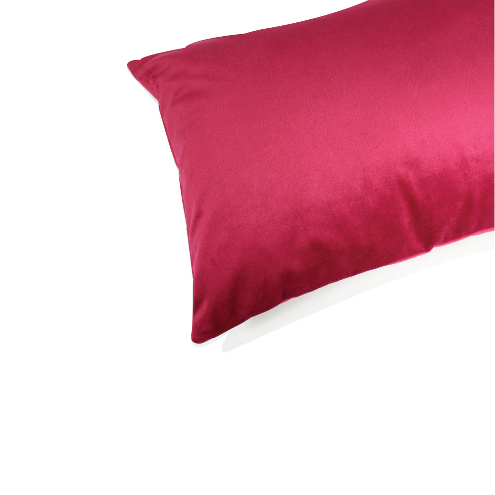 "Alma Pillow - Ruby Red - 20"" x 14"""