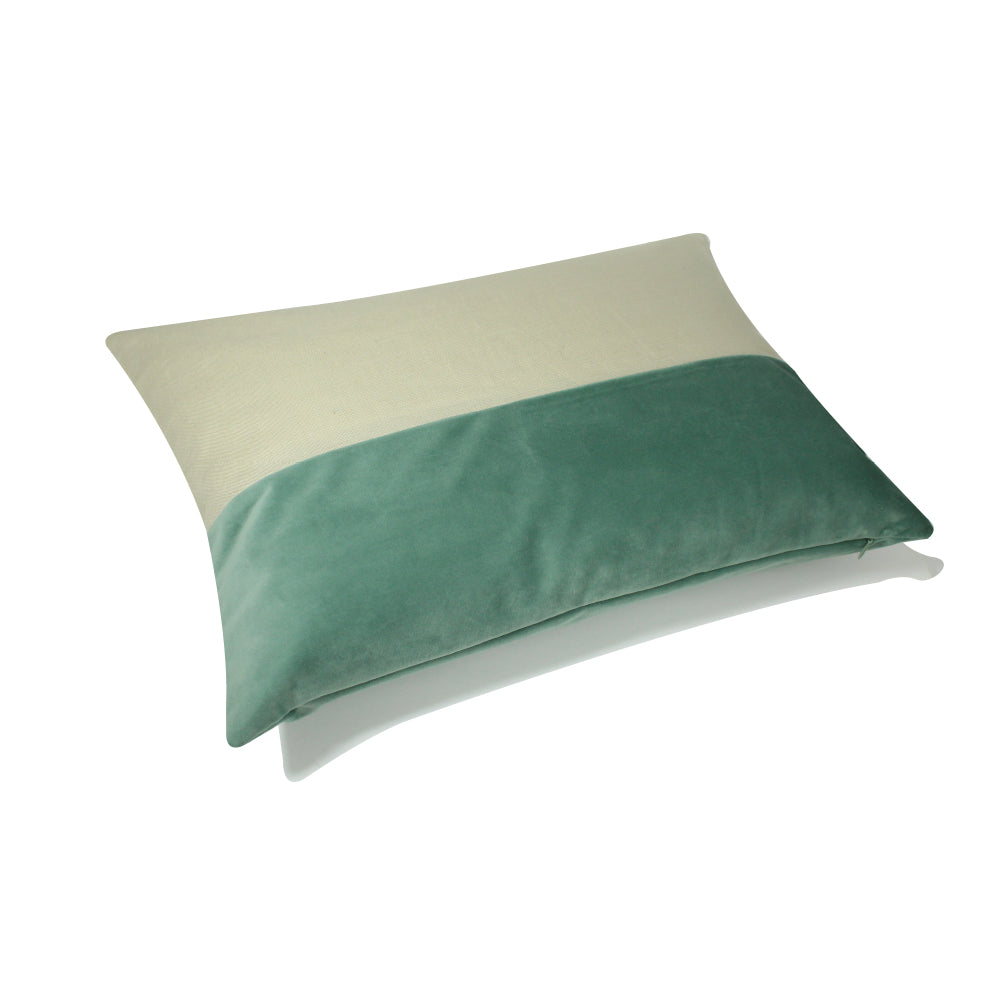 "Alma Pillow - Seafoam Green / Cream - 20"" x 14"""