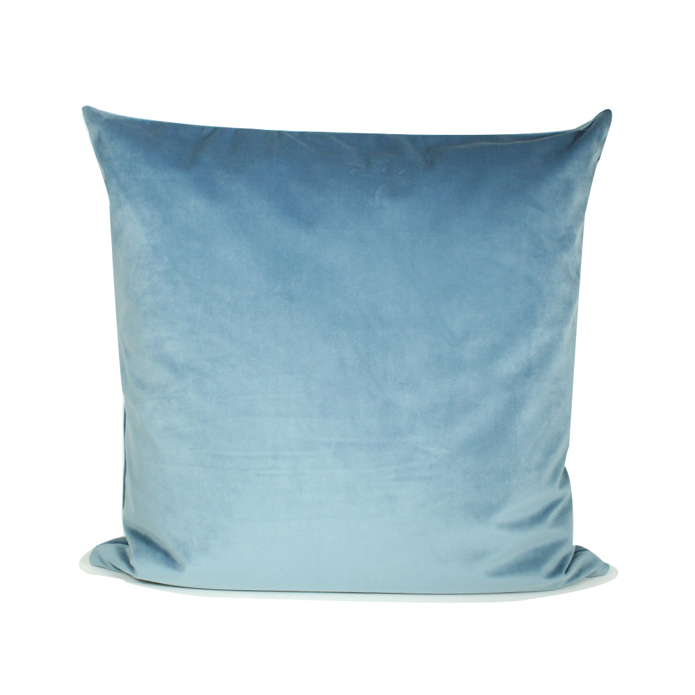 "Alma Pillow - Light Blue / Natural - 20"" x 20"""
