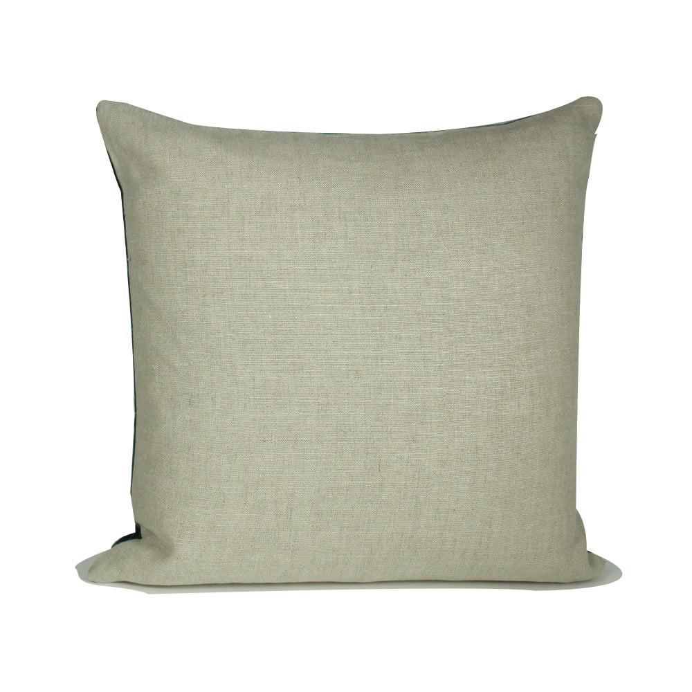 "Alma Pillow - Green / Natural - 20"" x 20"""