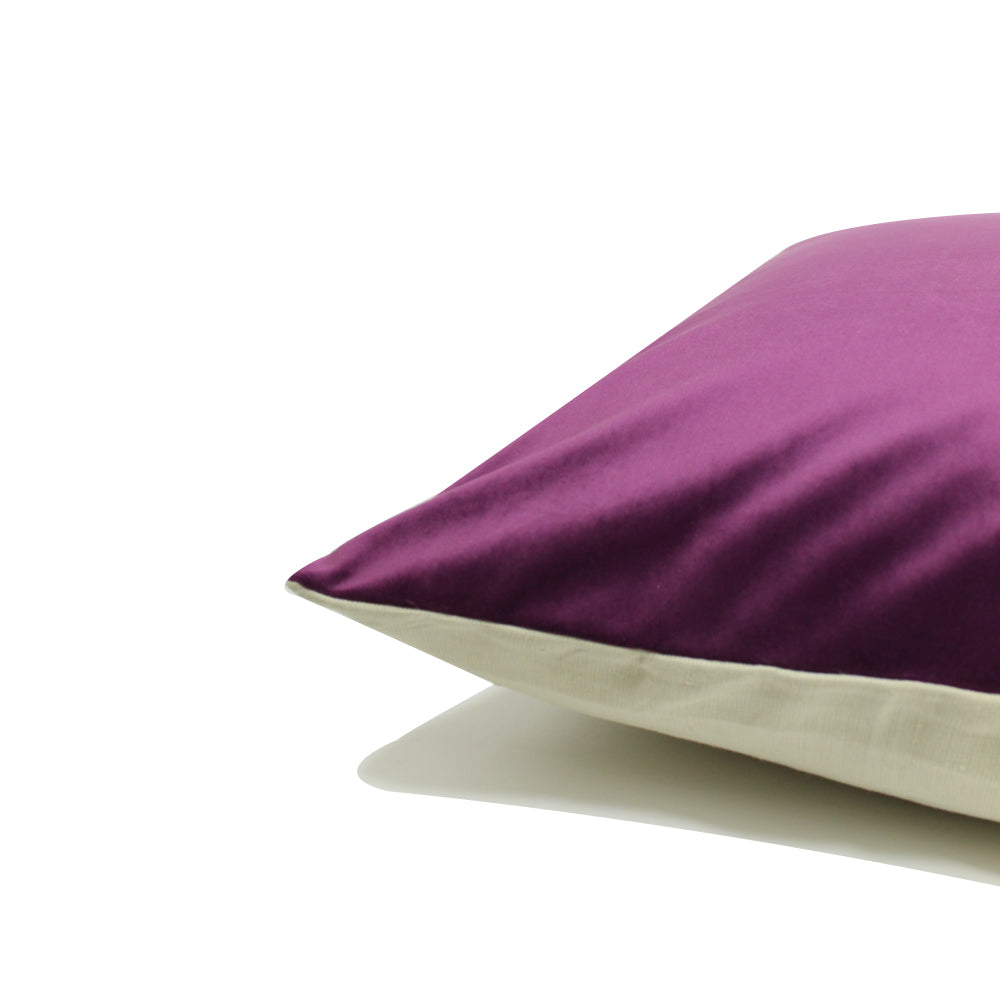 "Alma Pillow - Purple / Cream - 20"" x 20"""