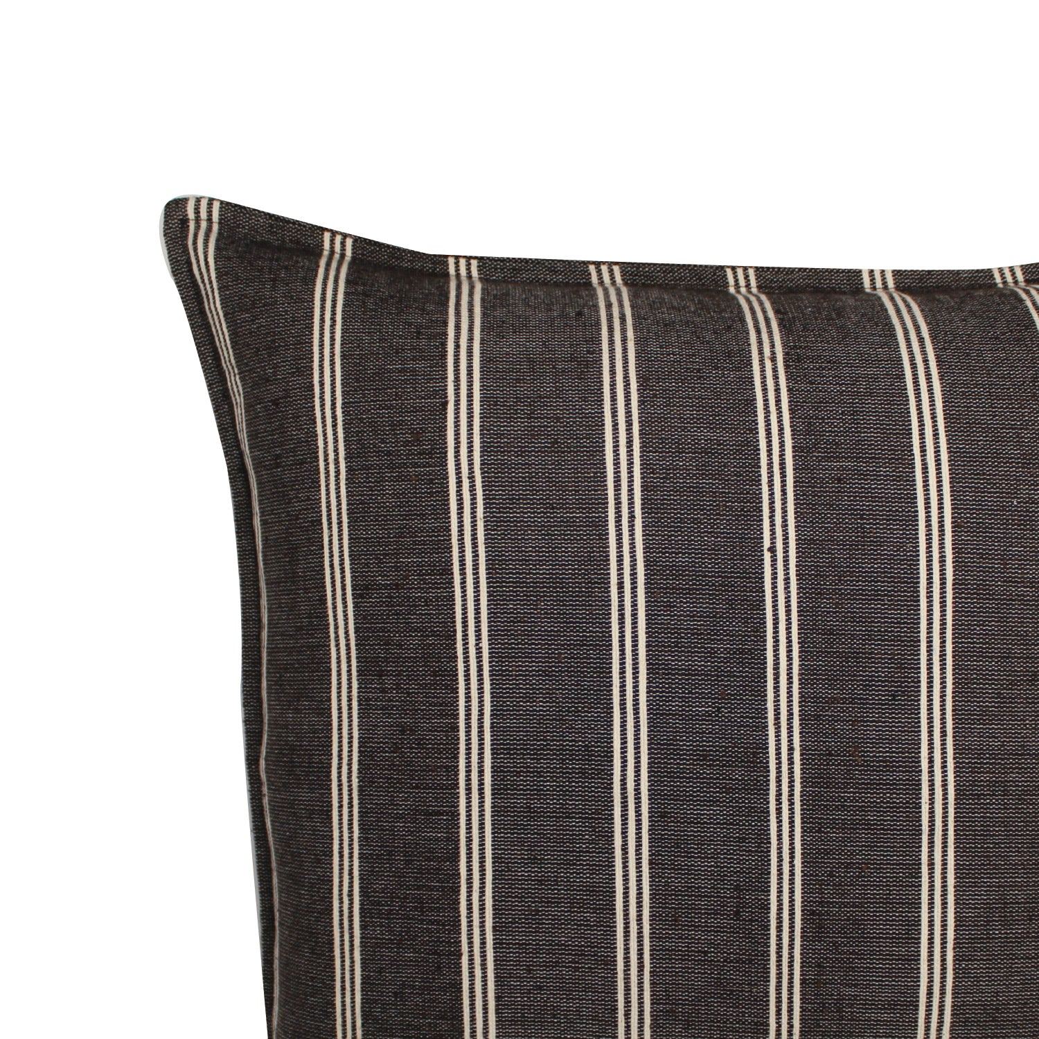 Aura Handwoven Pillow - Charcoal