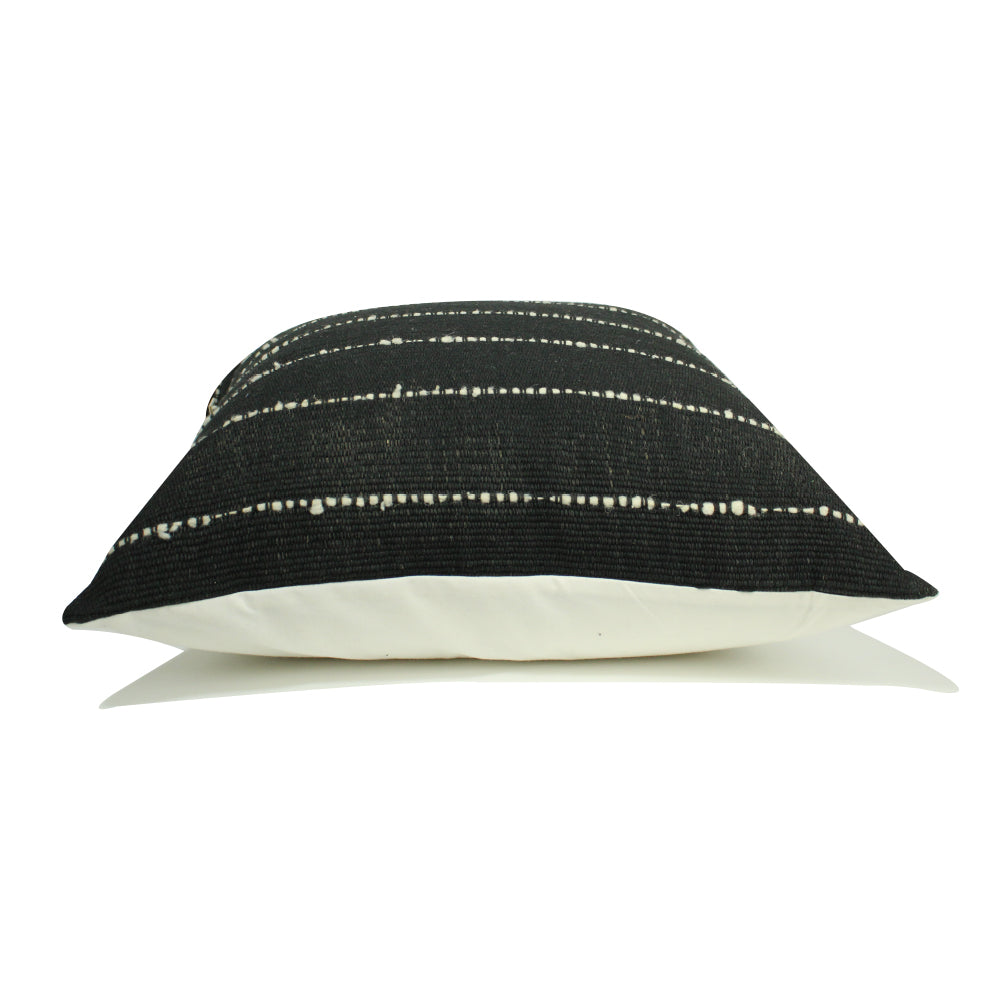 "Coban Handwoven Pillow - Black - 20"" x 20"""