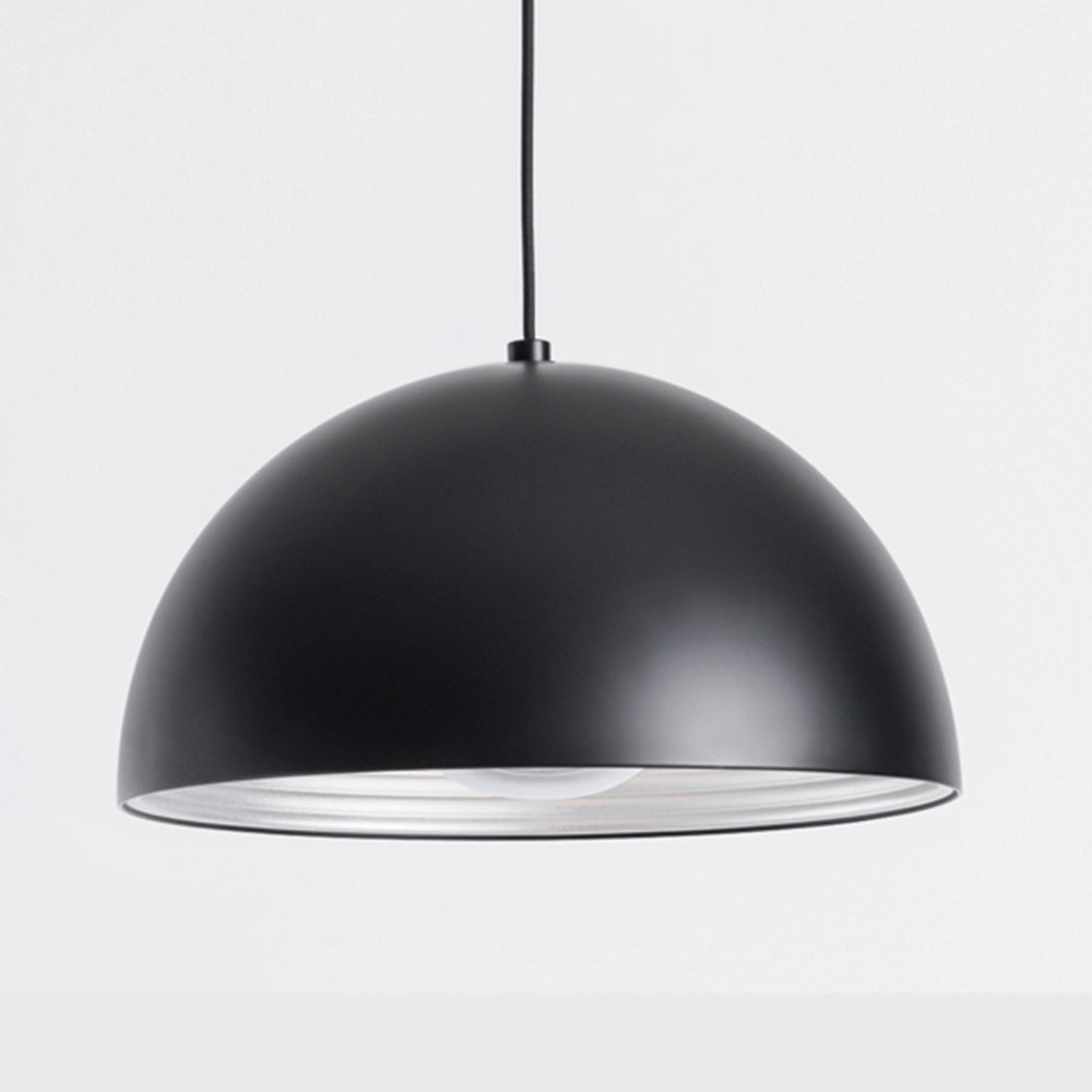 Dome Pendant - Matt Black - Small